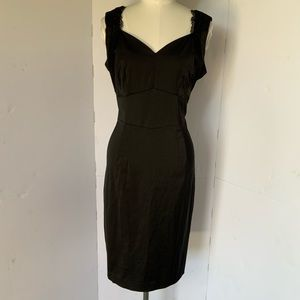 H&M | satin & lace dress